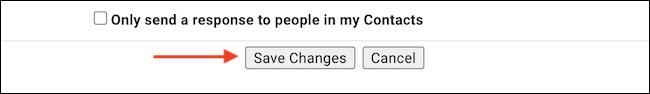 """انقر فوق الزر """"حفظ التغييرات"""" لحفظ التفضيلات."""