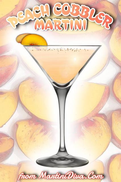 PEACH COBBLER MARTINI Cocktail Recipe