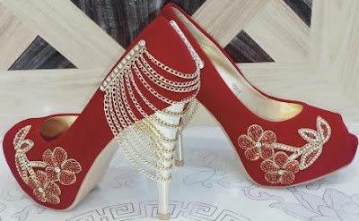 Valentine Day Red Shoes 2020 Designs for Girls