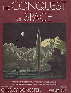 Book cover - The Conquest of Space (1949), by Willy Ley and Chesley Bonestell
