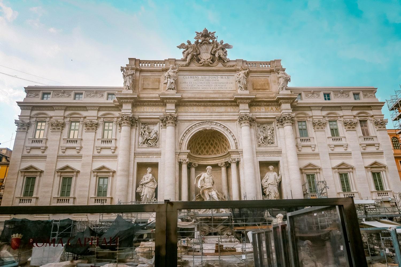 Trevi Fountain Under Restoration, Contiki Europe,