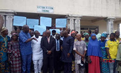 PDP members protesbandment of Osun election tribunal