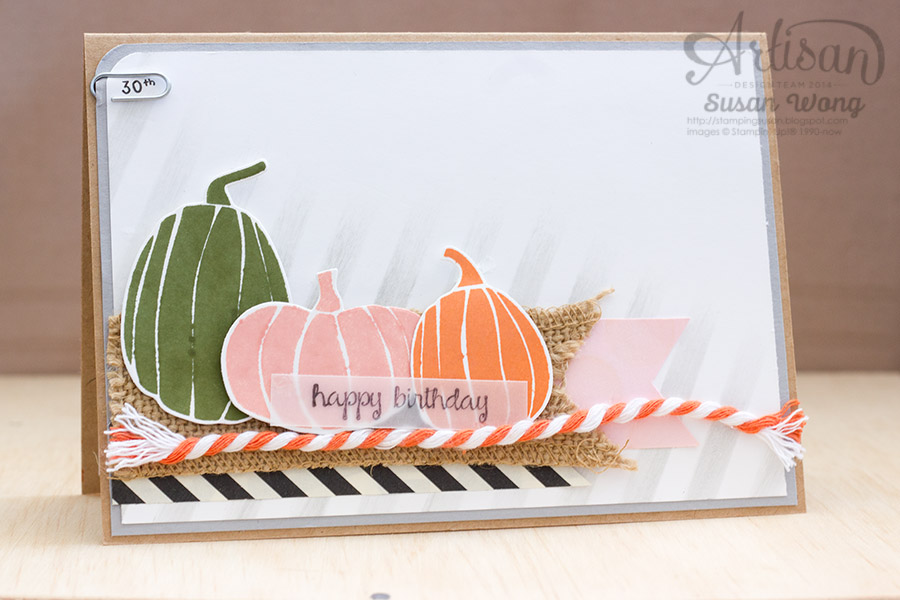 Love these pumpkins from the Fall Fest stamp set ~ Susan Wong