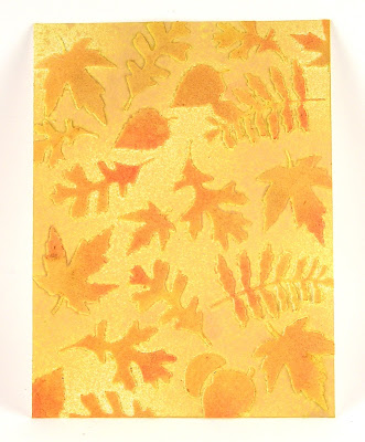 Sizzix Fall Foliage Dies Ranger Distress Stain Sprays Wendy Vecchi White Embossing Paste