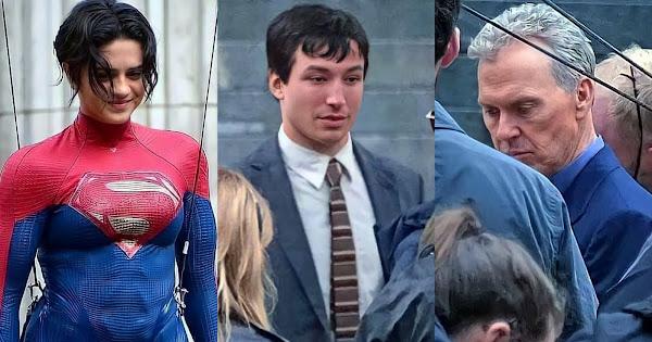 "Fotos do set de ""The Flash"" mostram Supergirl, Bruce Wayne ..."