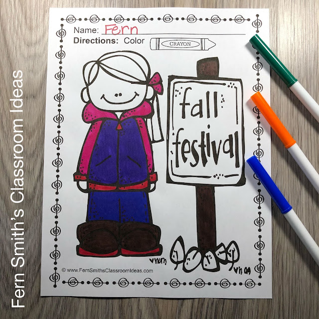 Fall Coloring Pages - 218 Pages for Fall - Four Pack Coloring Book Bundle