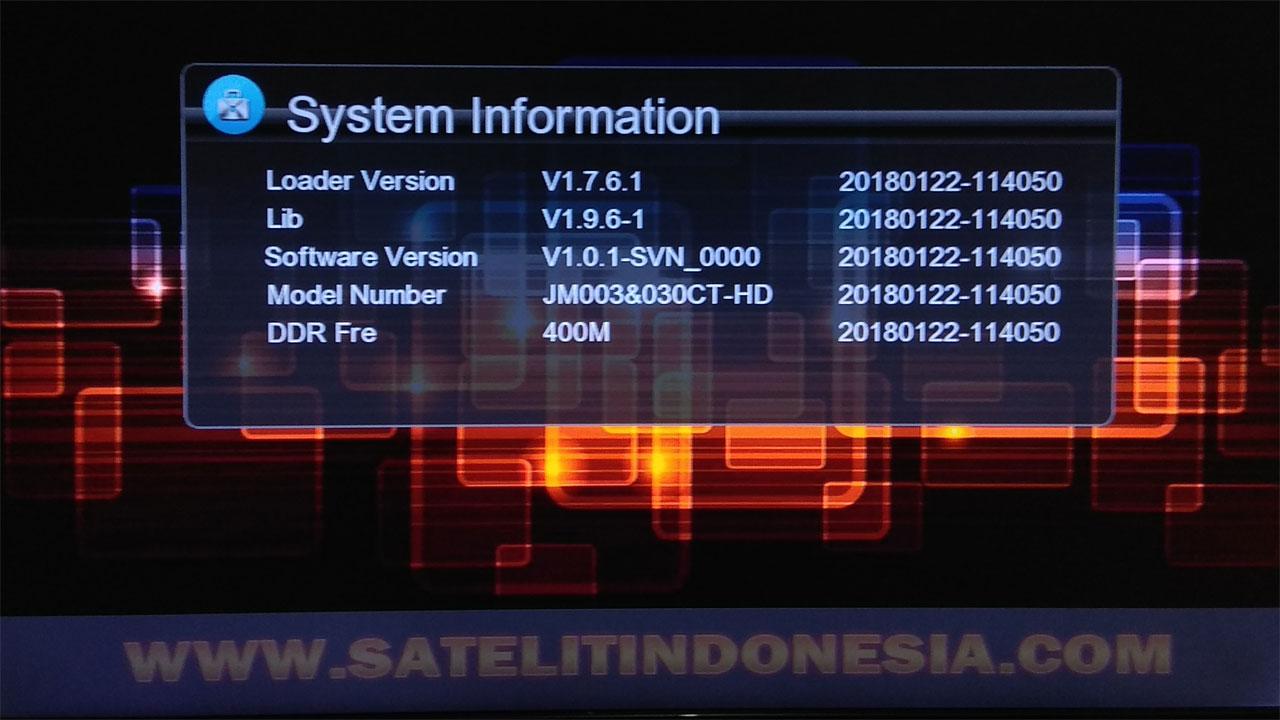Software Coronet JM003 030CT HD New Firmware Update
