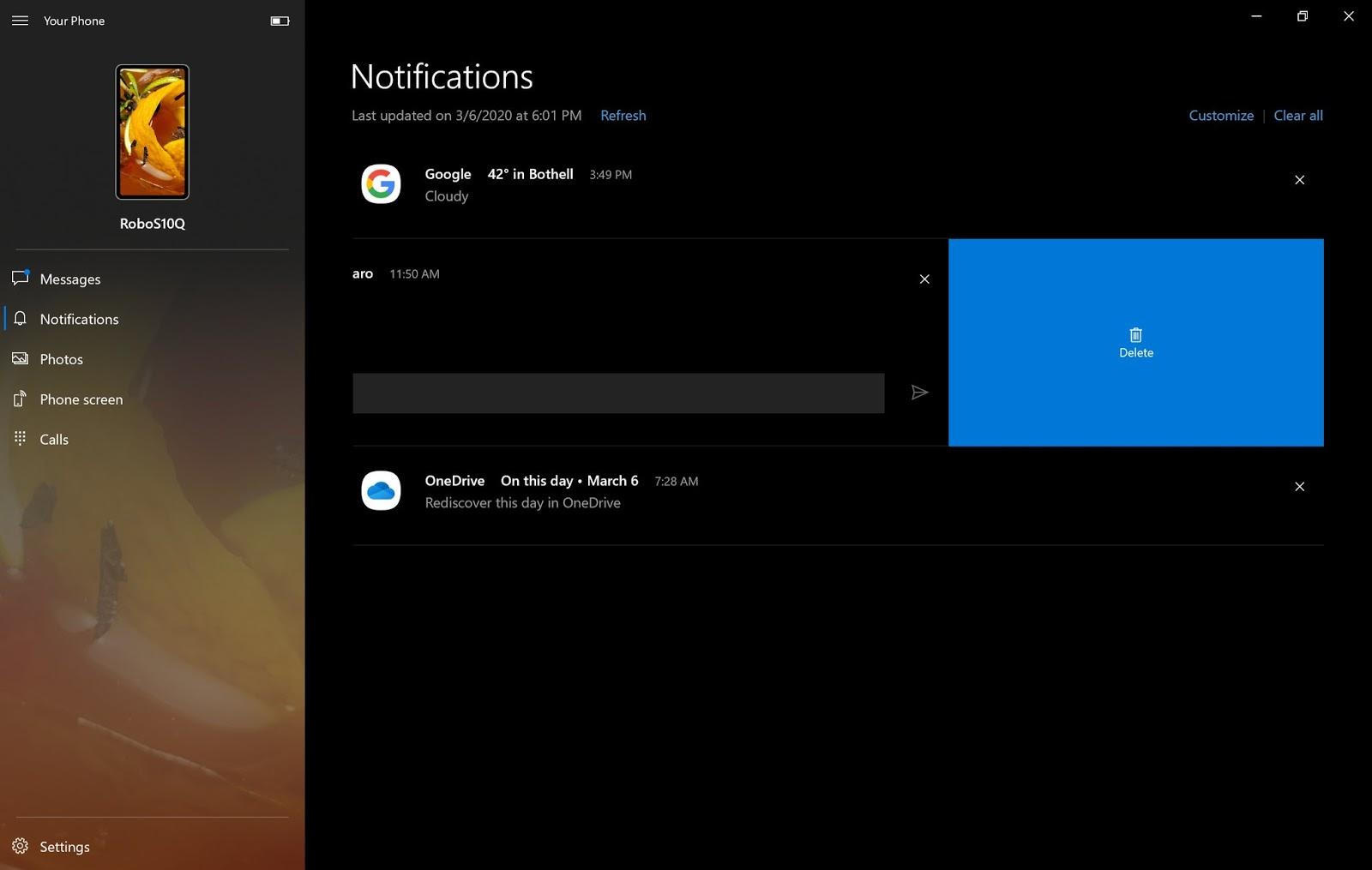 Il tuo telefono per Windows 10 riceve nuovi miglioramenti