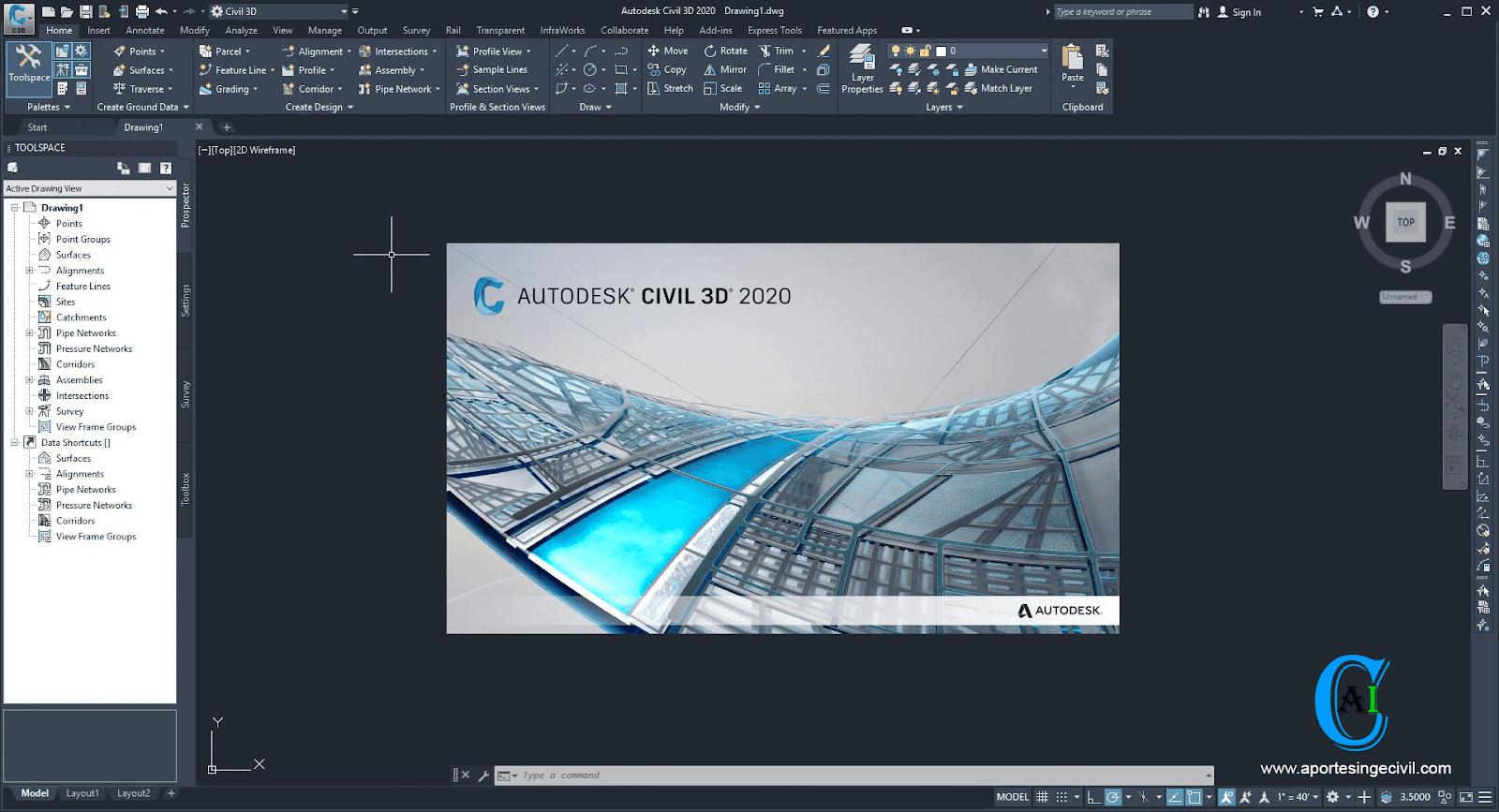 Autodesk Civil 3D 2020 Español e Ingles