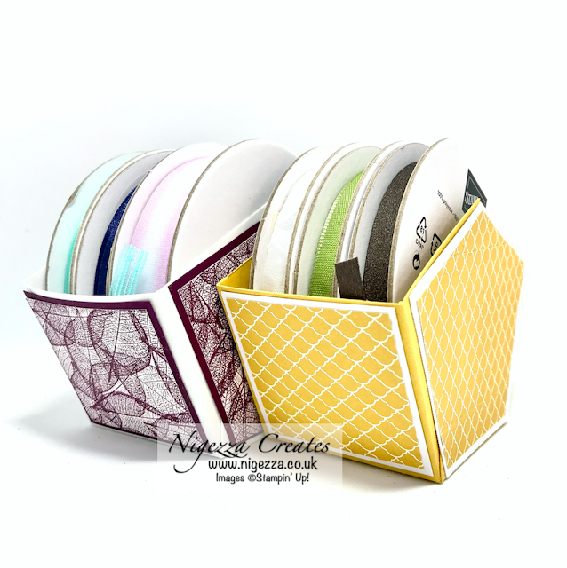 Nigezza Creates with Stampin' Up! Rooted in Nature ribbon storage