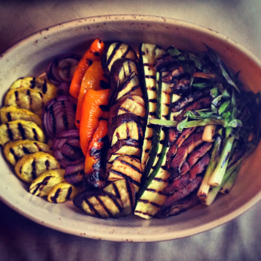 The Truth About Stovetop Grill Pans - Grilled Veggies with Herb Balsamic Vinaigrette