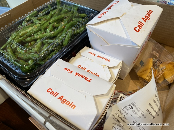 take out box at Sichuan Style in Berkeley, California