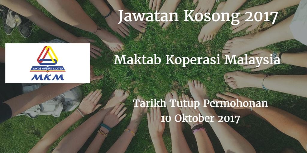 Jawatan Kosong MKM 10 Oktober 2017
