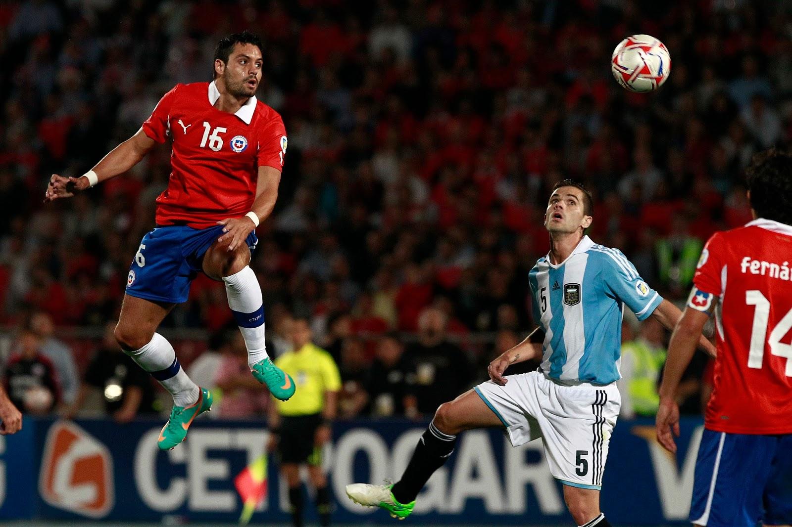 Chile y Argentina en Clasificatorias a Brasil 2014, 16 de octubre de 2012