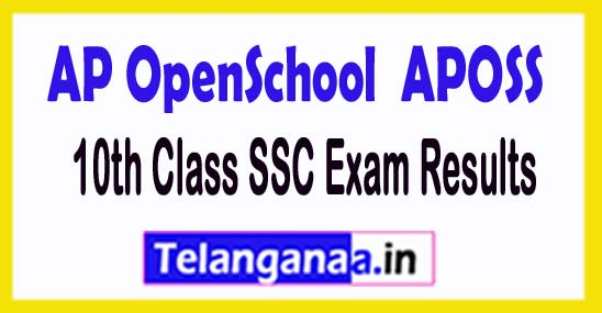 APOSS 10th Class SSC Exam Results 2018