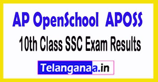 APOSS 10th Class SSC Exam Results 2017