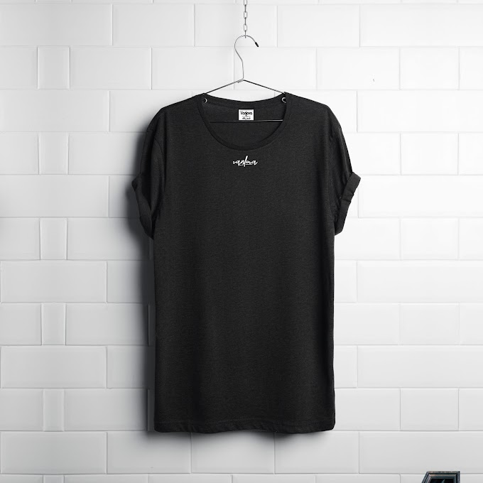 V/ Black T-shirt