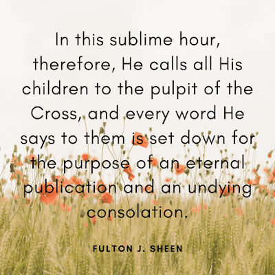 God friday quote image of Fulton J. Sheen