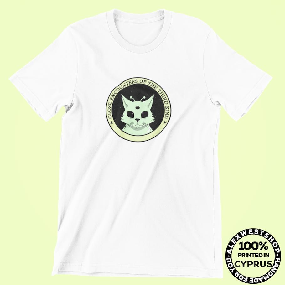 alien cat funny ufo nasa area 51 spreadshirt redbubble teepublic cafepress society6 teespring etsy t-shirt tshirt hoodie