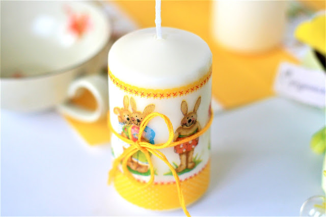 Ostergeschenk basteln: Deko-Kerze