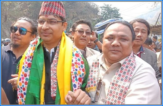 BJP MP Raju bista With MLA Neeraj Zimba