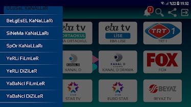 Atlantis Apk ile Türkiye Spor ve Film Ulusal kanalları izle