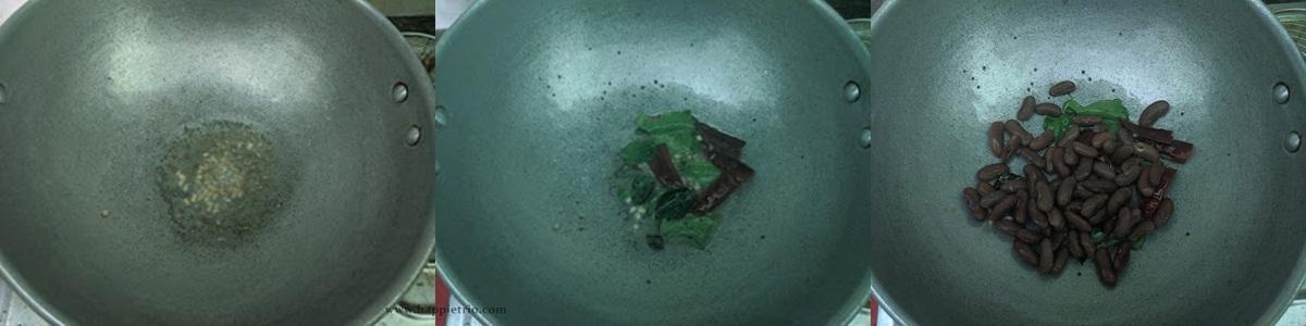 Step 1 - Rajma Sundal Recipe | Red Kidney Beans Sundal