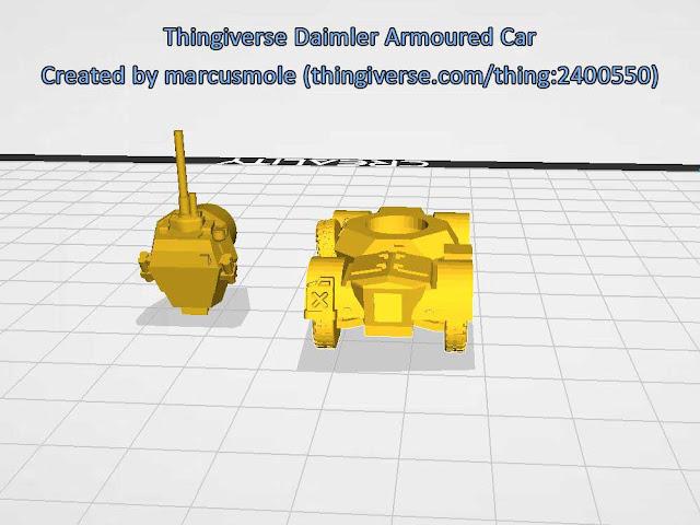 Thingiverse Damilar Armoured Car