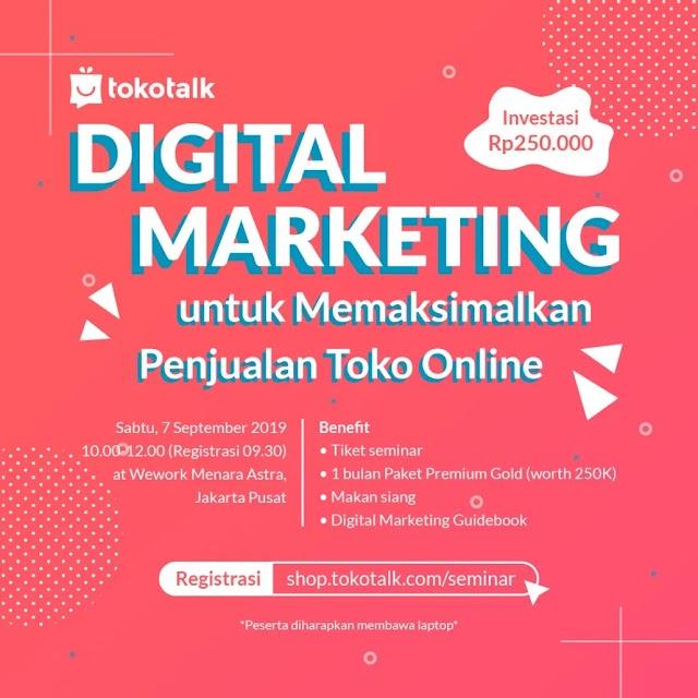 Seminar Digital Marketing untuk Memaksimalkan Penjualan Toko Online