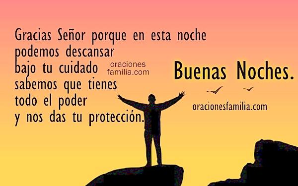 imagen para dormir protegido oracion a Dios proteccion noche