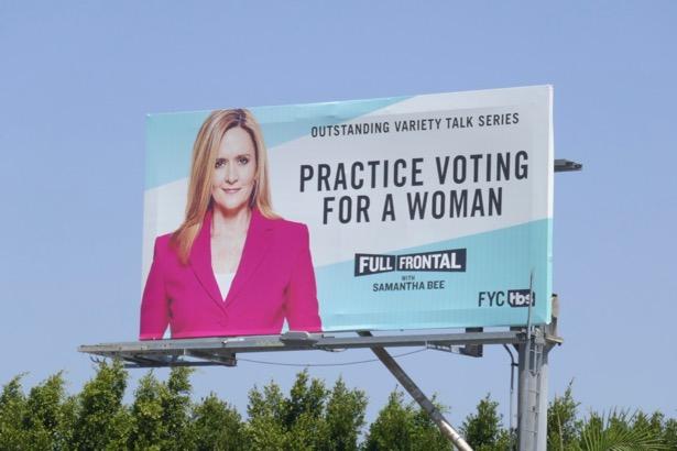 Samantha Bee 2019 Emmy nominee billboard