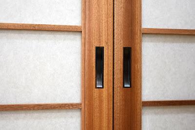 Shoji inlaid Ebony door pulls