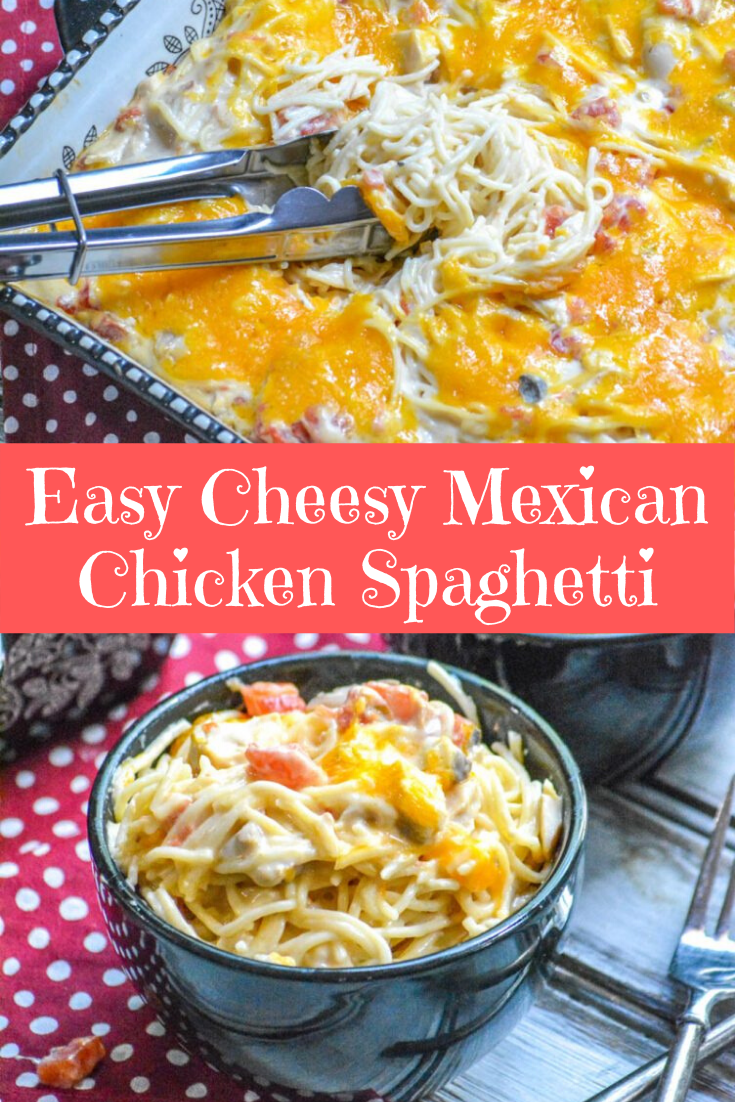 Easy Cheesy Mexican Chicken Spaghetti