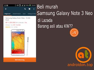 Beli murah Samsung Galaxy Note 3 Neo di Lazada