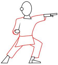Langkah 4. Super Simpel Menggambar Karateka