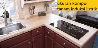 design kompor tanam dapur minimalis