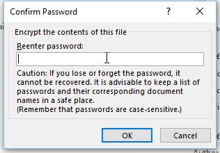 Confirm Password - माइक्रोसॉफ्ट ऑफ़िस से डॉक्यूमेंट पर पासवर्ड ऐसे करें सेट