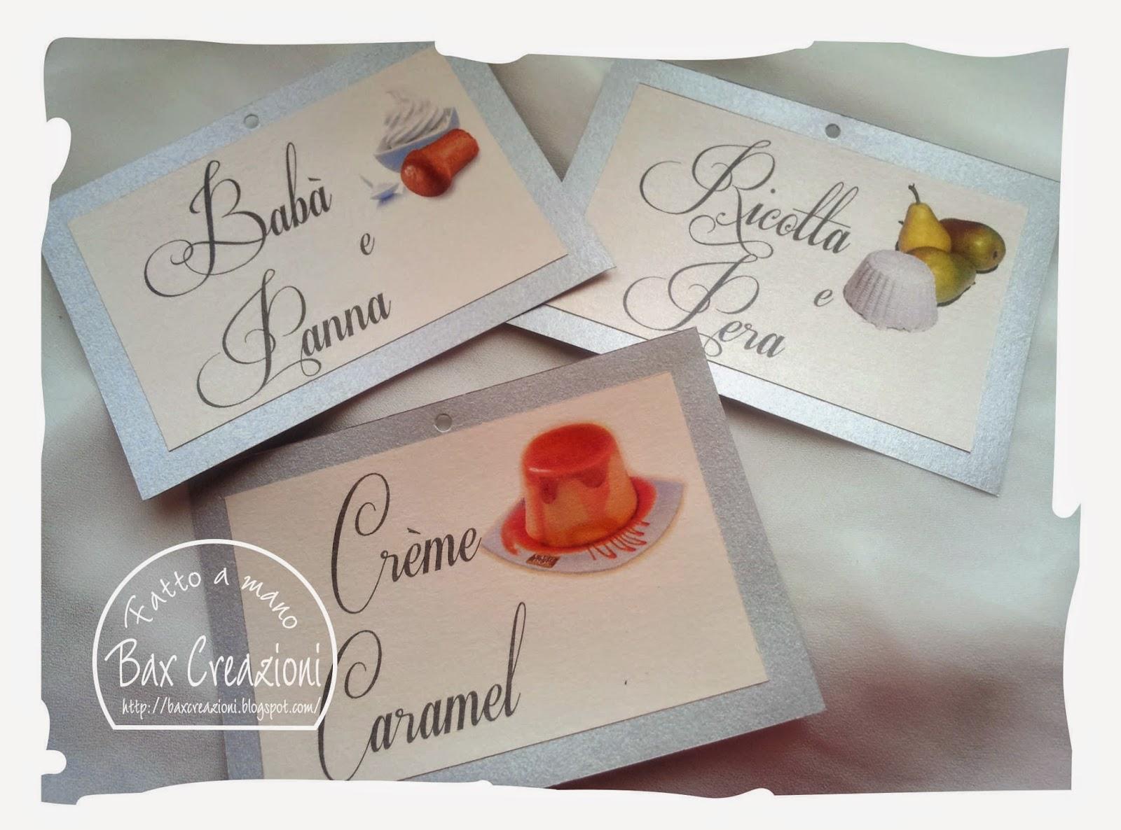Amato Bax Creazioni: Nozze d'argento - i cartelli per la confettata LK36