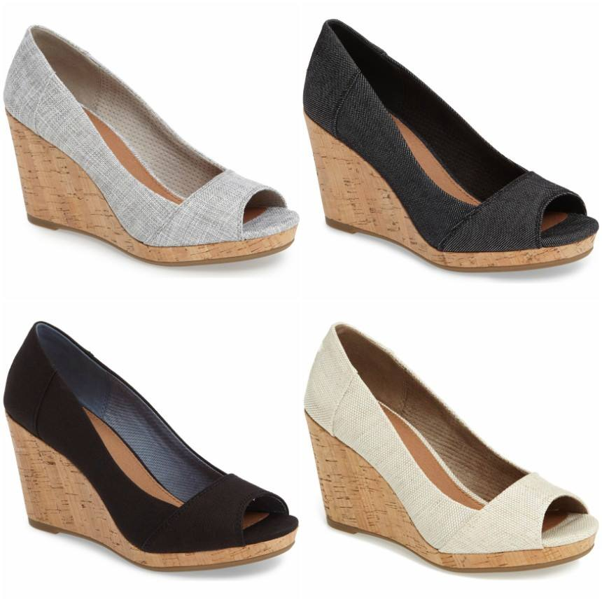 33ba646ac91 Wear It For Less  Nordstrom  25% off TOMS Stella Wedges!