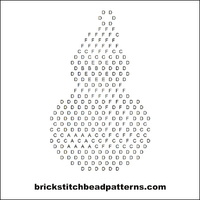 Click for a larger image of the Christmas Snowman brick stitch bead pattern word chart.