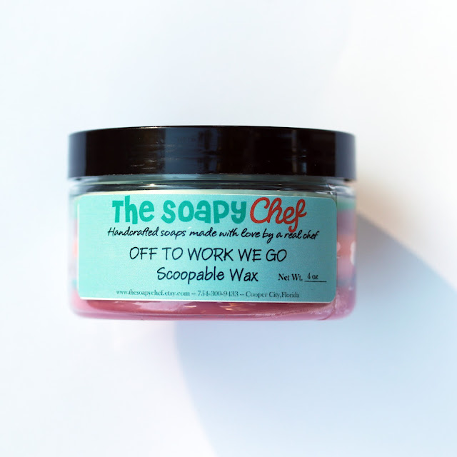 The Soapy Chef Off to Work We Go Scoopable Wax