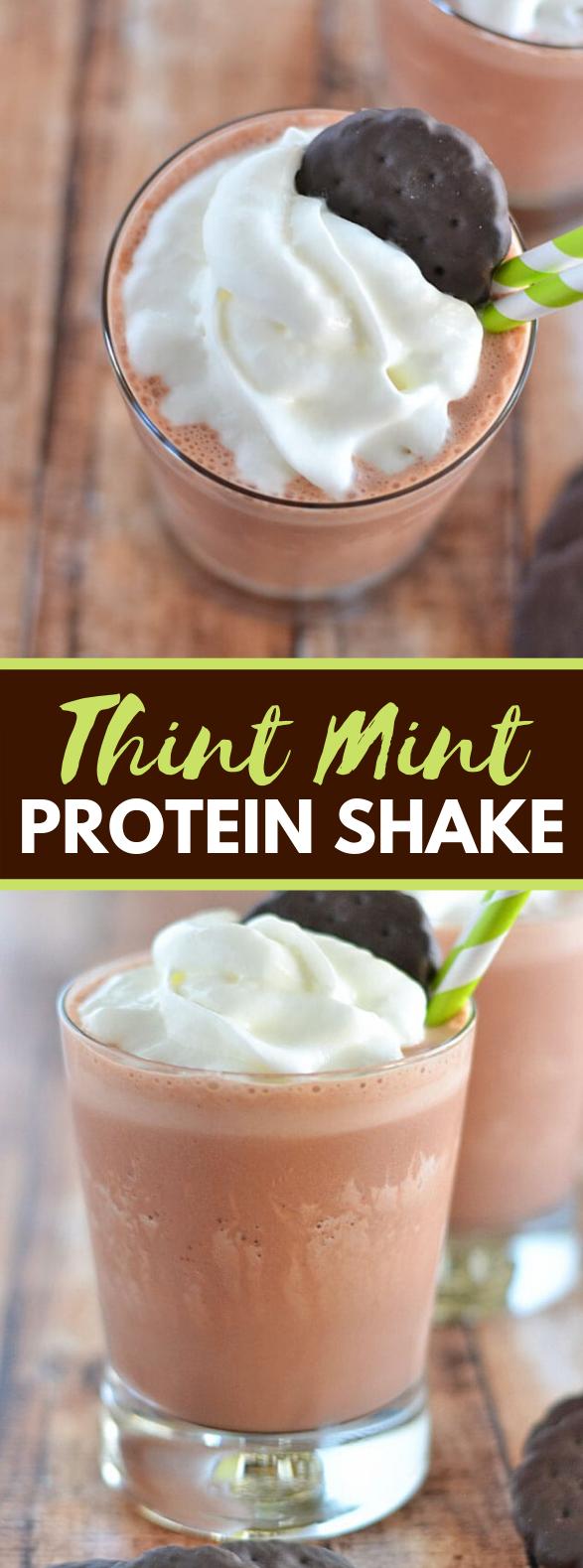 Thin Mint Protein Shake #drinks #weightwatchers