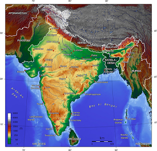 India Geography Map