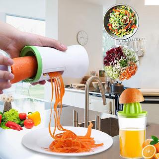 Handheld Vegetable Spiralizer and Manual Juicer