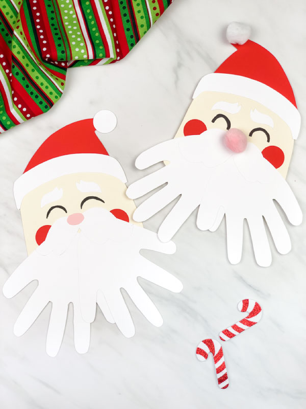 handprint Santa craft for kids
