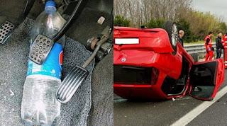يمكن أن يكلفك الاحتفاظ بزجاجة داخل سيارتك حياتك... حذاري !!!!