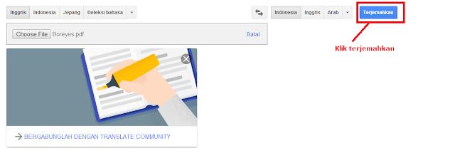 cara translate file bahasa inggris