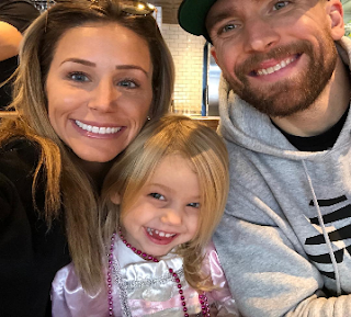 Blake Wheeler With His Wife And Daugher Png