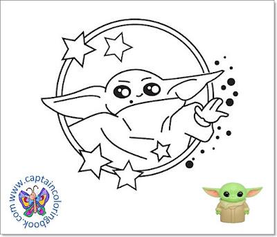 baby yoda coloring page-2