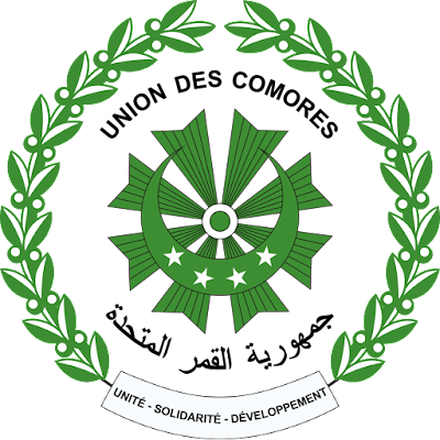 Coat of arms - Flags - Emblem - Logo Gambar Lambang, Simbol, Bendera Negara Komoro